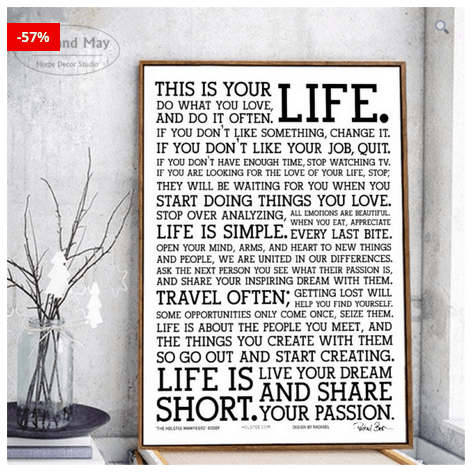 Inspirational Quotes Wall Art To Hang In Home